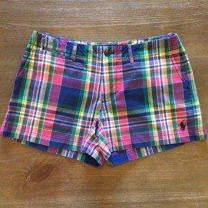 Ralph Lauren Sport Plaid Shorts Size 2